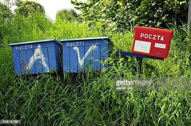 Poland Warminsko Mazurskie WarmiaMasuria Sorkwity post boxes