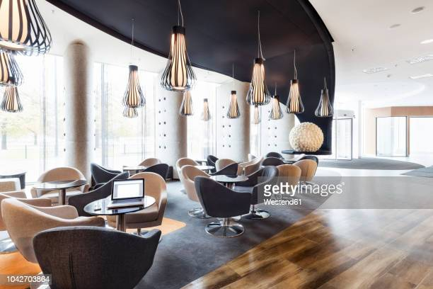 poland, warsaw, lounge at hotel - hotel lobby stock pictures, royalty-free photos & images