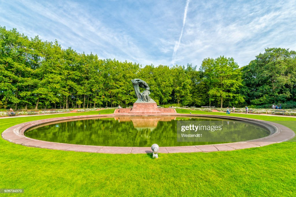 Poland Warsaw Royal Lazienki Park View To Chopin Statue