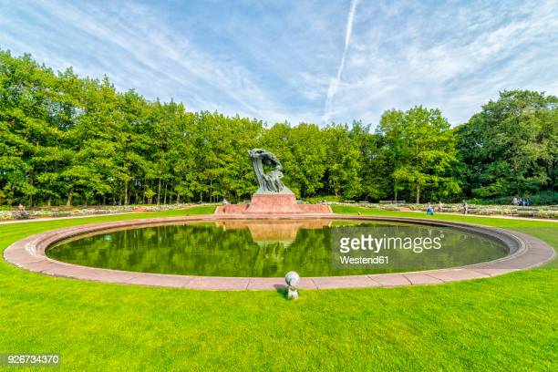 Poland, Warsaw, Royal Lazienki Park, view to Chopin Statue
