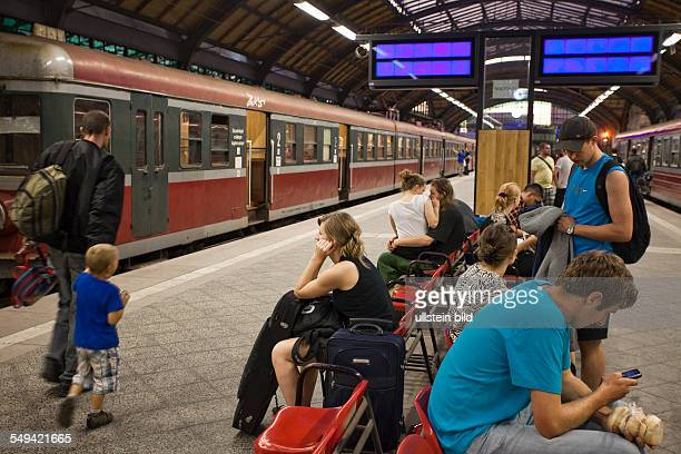 Passengers waiting at the central station