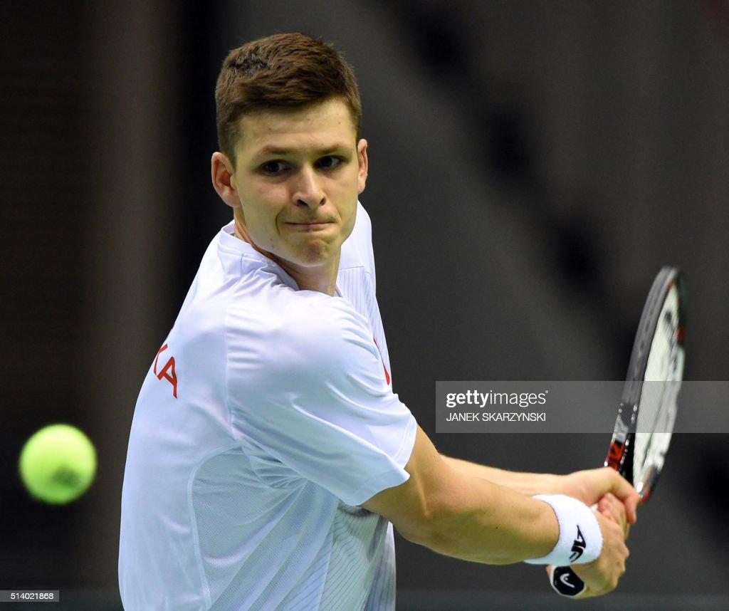 TENNIS-DAVIS-CUP-POL-ARG : News Photo