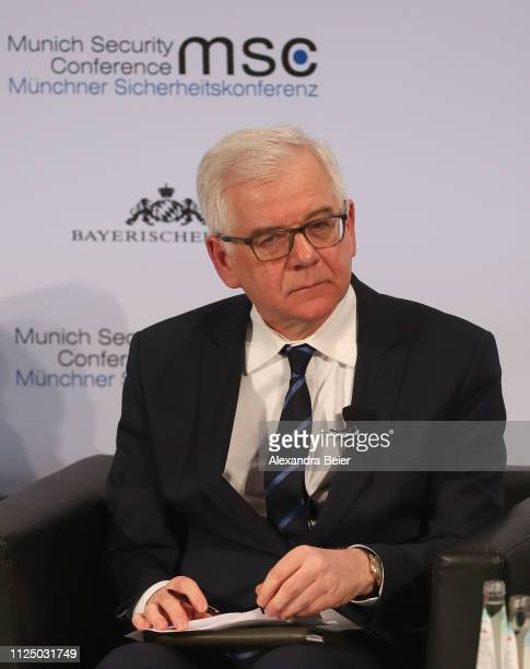 Poland's minister of foreign affairs Jacek Czaputowicz attends a panel discussion during the 55th Munich Security Conference on February 15 2019 in...