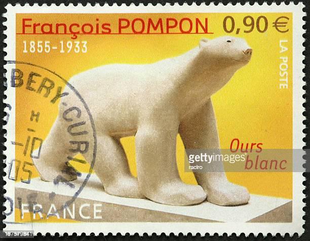 Ours Polaire sur Timbre-poste français