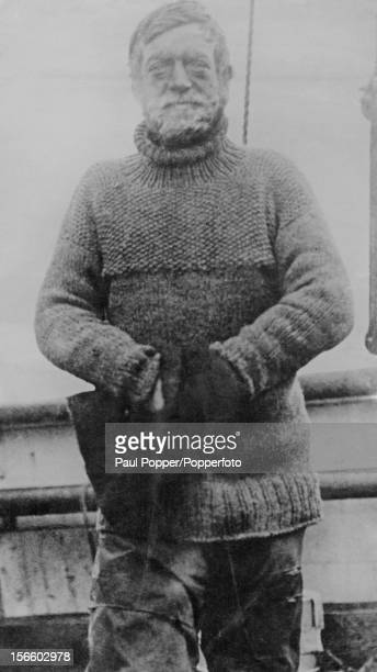 Polar explorer Ernest Shackleton on board the vessel 'Nimrod' during British Antarctic Expedition 1907–09 or 'The Nimrod Expedition The party failed...