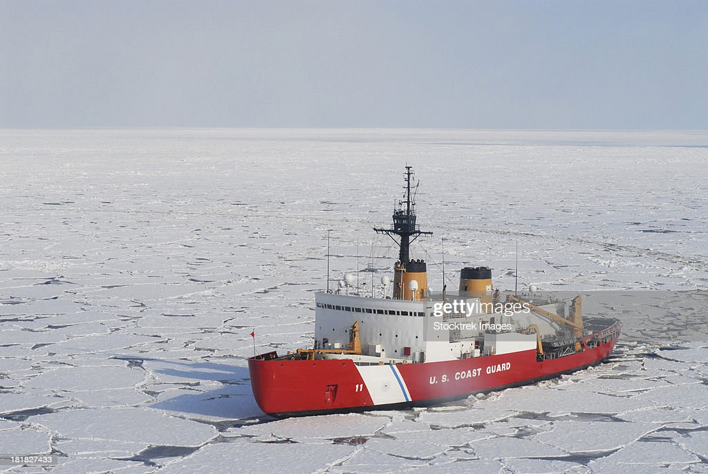 USCGC Polar Sea conducts a research expedition in the Beaufort Sea. : Stock Photo