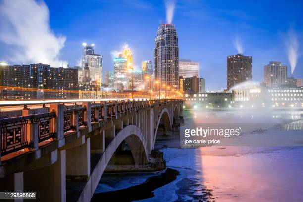 polar vortex, minneapolis, minnesota, america - minneapolis stock photos and pictures