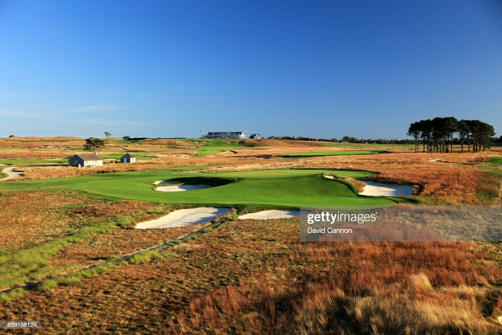 Polarising filter used on the camera in this image: The 189 yards par 3, seventh hole 'Redan' at Shinnecock Hills Golf Club the host venue for the 2018 US Open Championship on October 4, 2017 in Southampton, New York.