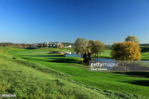 Polarising filter used on the camera in this image The 404 yards apr 4 15th hole on the Albatross Course at Le Golf National the host venue for the...