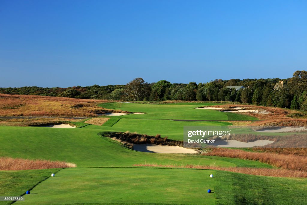 Polarising filter used on the camera in this image: The 469 par 4, 12th hole 'Tuckahoe' at Shinnecock Hills Golf Club the host venue for the 2018 US Open Championship on October 4, 2017 in Southampton, New York.