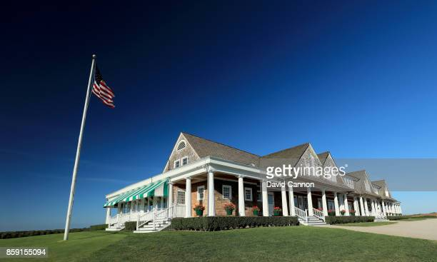Polarising filter used on the camera in this image The clubhouse at Shinnecock Hills Golf Club the host venue for the 2018 US Open Championship on...