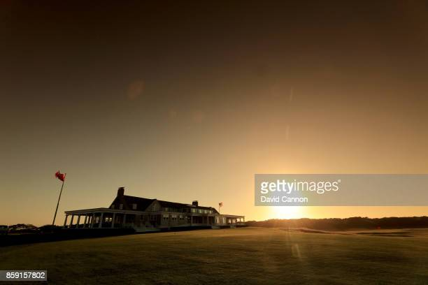 Polarising filter used on the camera in this image The clubhouse at sunset at Shinnecock Hills Golf Club the host venue for the 2018 US Open...