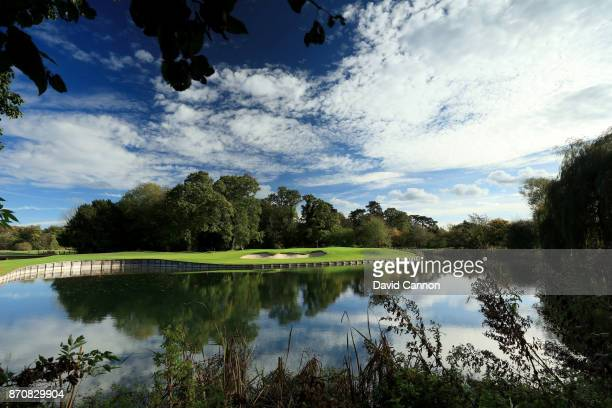 A polarising filter was used on camera in this image A view from the right side of the green on the 418 yards par 4 seventh hole at The...