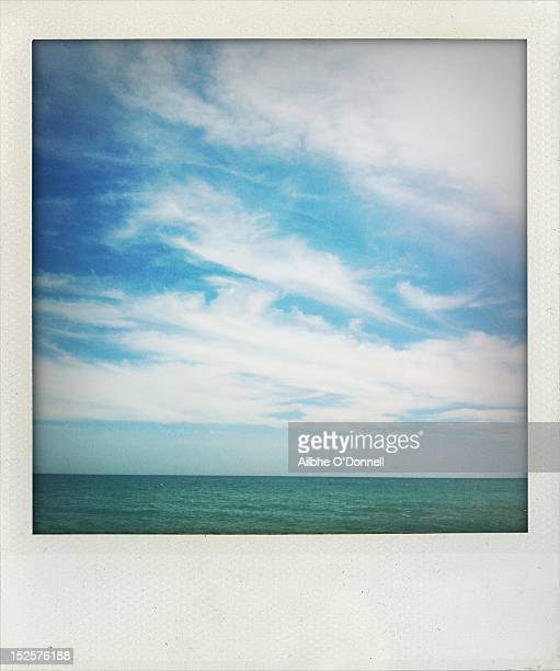 Polaroid blue sky and sea