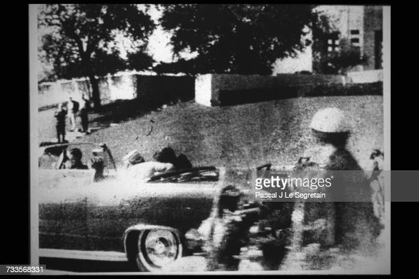 Polaroid by Mary Moorman taken as JFK was shot in the head The photo was scrutinized for clues