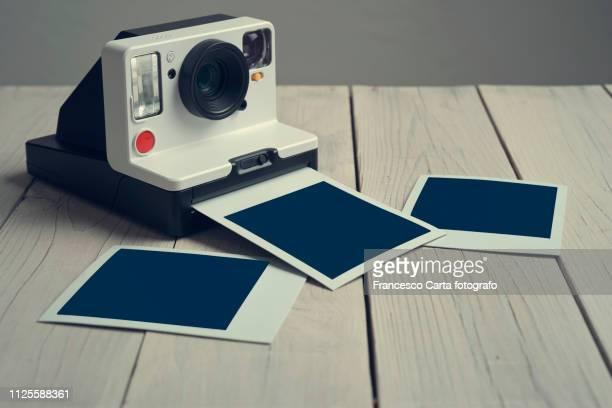 polaroid camera - polaroid stock pictures, royalty-free photos & images