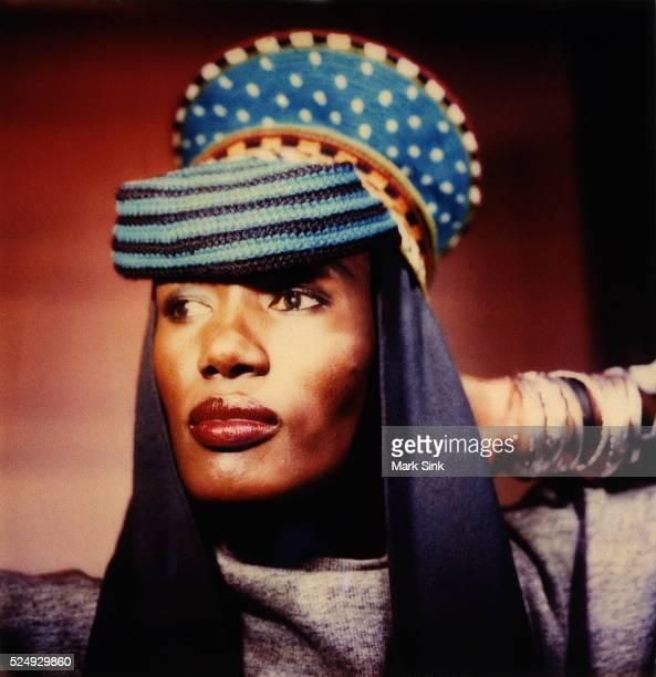 Polaroid famous face series Shot in her restaurant La Vin Rose 1987