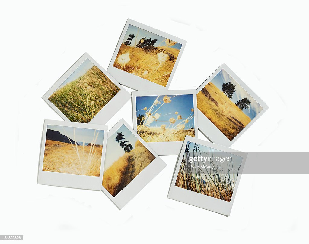 Polaroid images of landscapes : Stock Photo