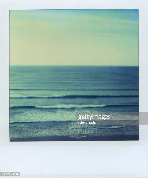Polaroid of surfing waves