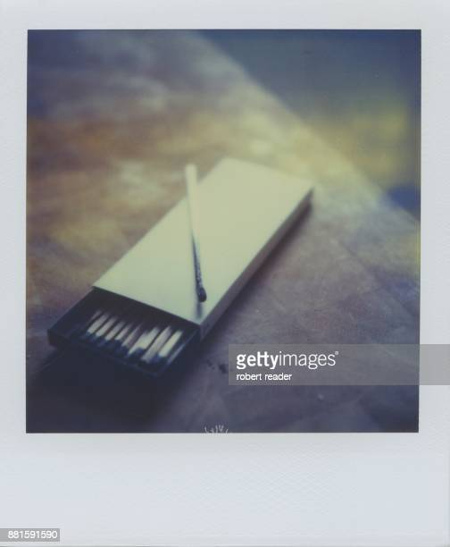 Polaroid photograph of a box of matches