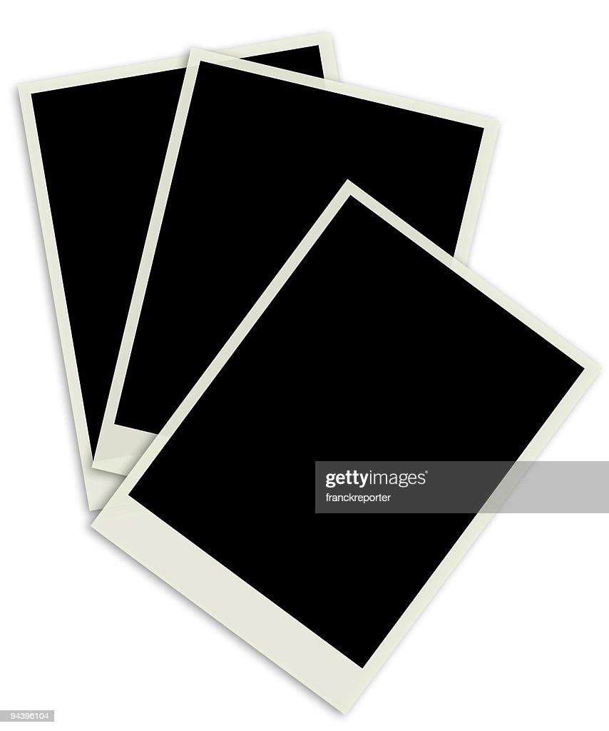 polaroid-Fotos auf weißem Hintergrund : Stock-Foto