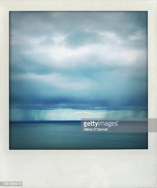 polaroid sea and sky - square stock pictures, royalty-free photos & images