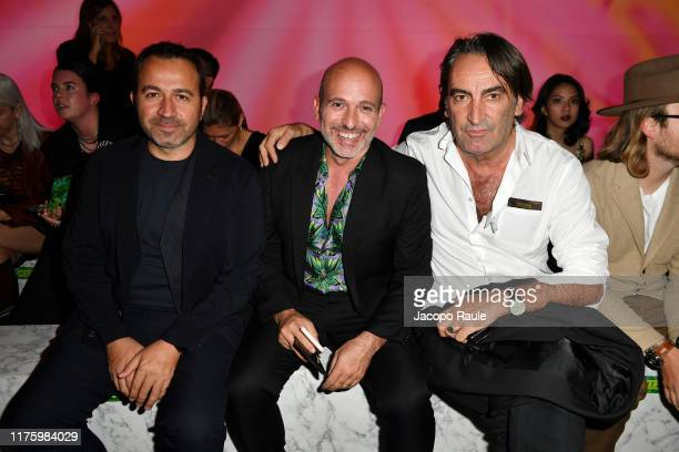 Polat Uyal Alessandro Maria Ferreri and Beppe Angiolini attend the Versace fashion show during the Milan Fashion Week Spring/Summer 2020 on September...