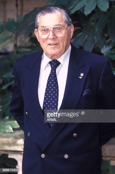 Poldek Pfefferberg dit 'Leoplod Page' survivant de la Shoah et ami de Oskar Schindler à Paris en février 1994