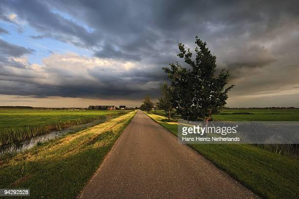 polder road - 干拓地 ストックフォトと画像