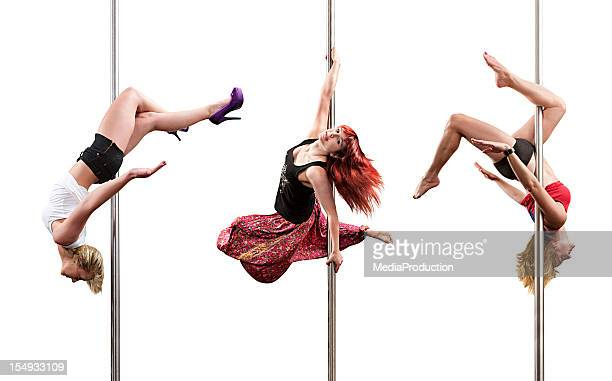 Pole fitness dancers