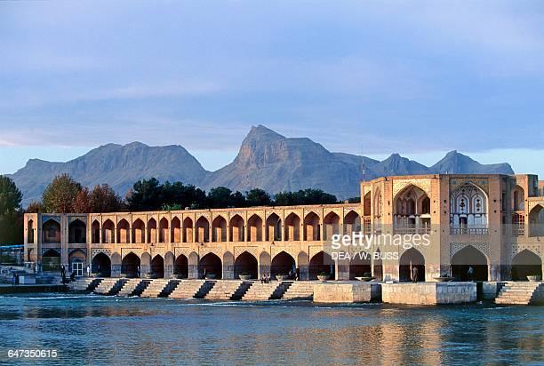 Pol-e Khaju Khaju Bridge on the River Zayandeh, Isfahan. Iran, 17th century.