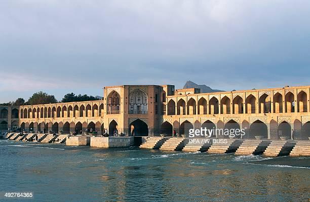 Pol-e Khaju, Khaju Bridge on the River Zayandeh Isfahan, Iran.