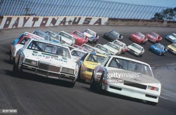 Pole position starter Ricky Rudd lines up with Geoff Bodine in the '83 Daytona 500.