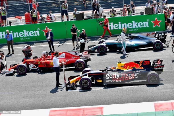 Pole Sebastian Vettel Scuderia Ferrari Max Verstappen Red Bull Racing Lewis Hamilton Mercedes Grand Prix formula 1 GP Mexiko Mexiko Stadt