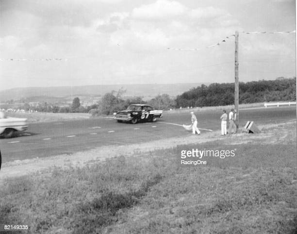 Pole starter Buck Baker won at Watkins Glen in 1957 the NASCAR Cup Series tours firstever stop at the road racing facility Baker drove a Chevrolet...