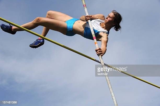 pole vault action - high jump stock pictures, royalty-free photos & images