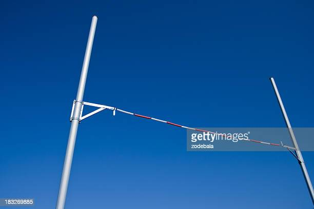 pole vault against blue sky - high jump stock pictures, royalty-free photos & images