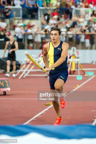 Pole Vault Men Armand Duplantis Of Sweden in action during the Diamond League athletics meeting Athletissima at Stade olympique de la Pontaise on...