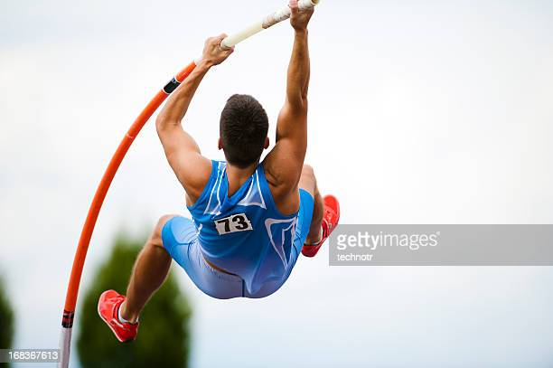 pole vault - high jump stock pictures, royalty-free photos & images