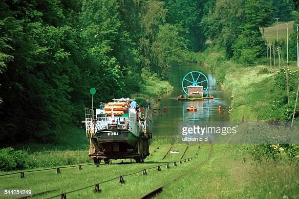 Polen Masuren Elblag ElblagKanal Zwischen Ostroda und Elblag wurde im 19 Jahrhundert der Oberländer Kanal gebaut Zur Überwindung der Höhendifferenz...