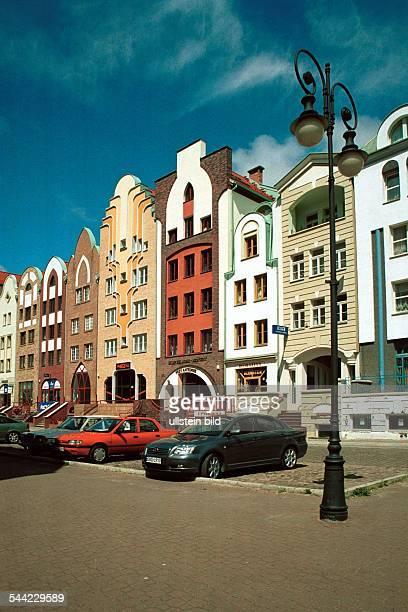Polen Masuren Elblag In der im zweiten Weltkrieg zerstörten Altstadt entstehen seit den neunziger Jahren Gebäude im Stil der Vorkriegszeit