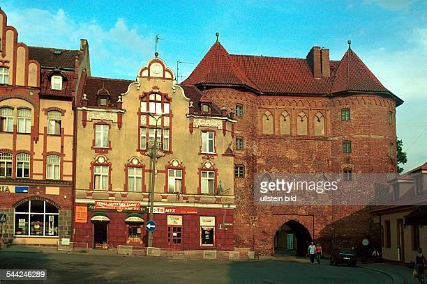 Polen Masuren Lidzbark Warminski Das Hohe Tor aus dem 14 Jahrhundert