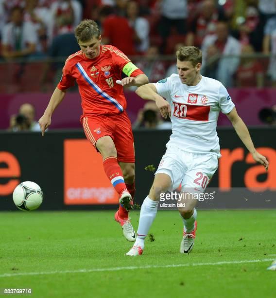 FUSSBALL EUROPAMEISTERSCHAFT Polen Russland Andrey Arshavin gegen Lukasz Piszczek
