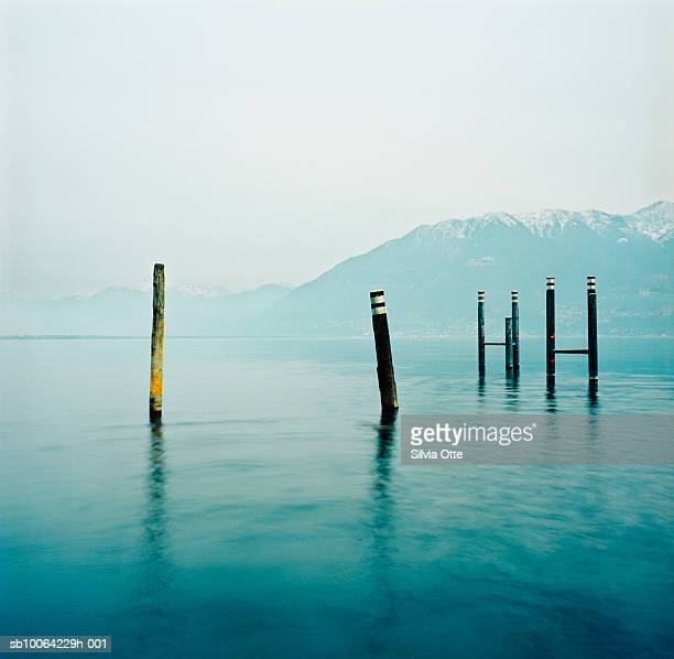 Poles in Lake Maggiore