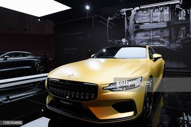 Polestar 1 electric car during the 19th Shanghai International Automobile Industry Exhibition, also known as Auto Shanghai 2021, at National...