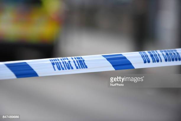 Police and emergency workers are seen on the site of a terror attack on an Underground train at Parsons Green station London on September 15 2017...