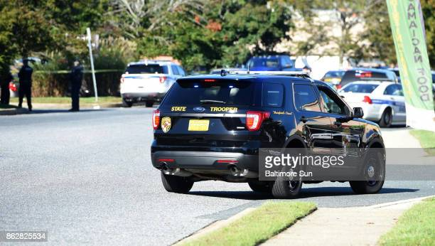 Police and EMS respond to a shooting at a business park in the Edgewood area of Harford County Wednesday Oct 18 2017 in Edgewood Md Three people have...