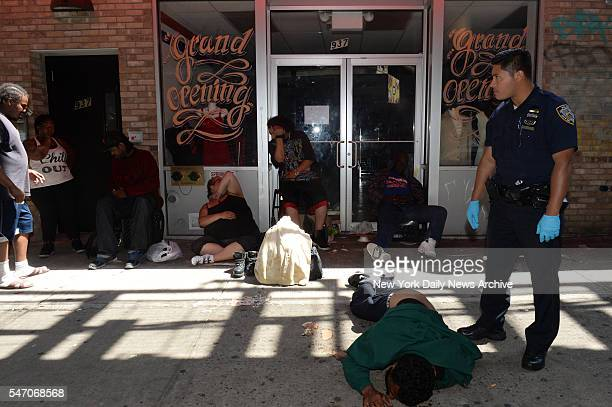 Police and EMS rushed 15 people to the hospital after an alleged overdose by numerous people on K2 and other drugs on Broadway in Bushwick Brooklyn...