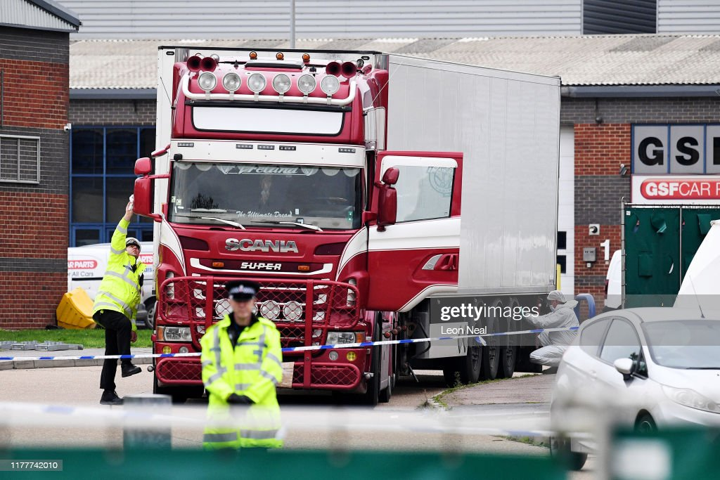 39 Bodies Discovered In Lorry In Thurrock : News Photo