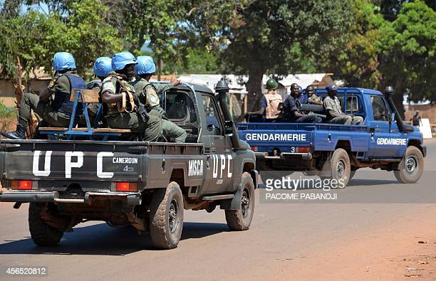 Police and gendarmes assisted by UN troops proceeded in the arrest on October 2 2014 of several men allegedly accused of being behind several cases...
